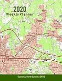 2020 Weekly Planner: Gastonia, North Carolina (1970): Vintage Topo Map Cover