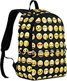 Canvas Backpacks Smiley Emoji Face Printing School Bag For Teenagers Girls and kids Shoulder Bag