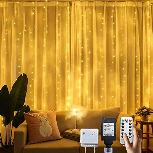 PUHONG Curtain Lights for Halloween Christmas Wedding Party Home Garden Bedroom Indoor Wall Decorations