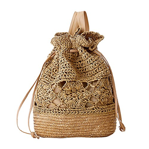 Vintage Drawstring Crochet Shoulder Backpack product image