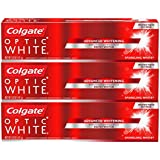 Colgate Optic White Whitening Toothpaste, Sparkling Mint, 5 Ounce, 3 Count