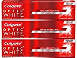 Colgate Optic White Whitening Toothpaste, Sparkling Mint - 5 oz, 3 Pack
