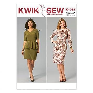 Kwik Sew Damen Schnittmuster 4082 Schößchen Rüsche Kleider + Gratis ...