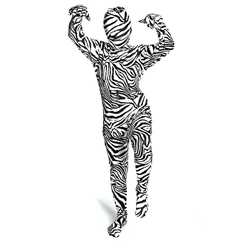 Kids Zebra Morphsuits Childs Fancy Dress Costume Large 4'6 - 5' (135cm - 152cm) (Morph Suit Sizing)