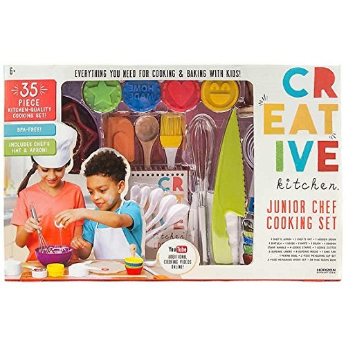 Junior Chef 35-Piece Dishwasher Safe Kitchen-Quality Child Safe Cooking