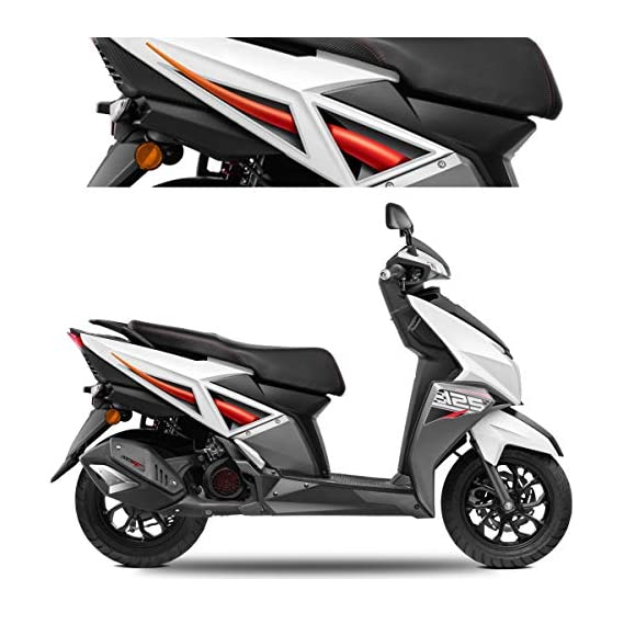 Autographix Red Inturn Scooter Graphics for TVS Ntorq - Set of 4 pcs