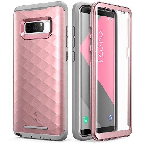 Samsung Galaxy Note 8 Case, Clayco [Hera Series] Full-body Rugged Case with Built-in 3D Curved Screen Protector for Samsung Galaxy Note 8 (2017 Release) (RoseGold)