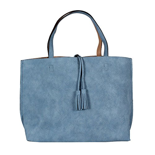 Marrone Livello Blu Della Chiaro 7228 Shopper 2in1 Strada Reversibile 0pn0rqwS1