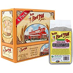 Bob's Red Mill Organic Buckwheat Flour, 22 Ounce (Pack of 4)