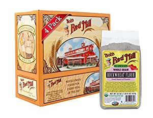 Bob's Red Mill Organic Buckwheat Flour, 22 Ounce (Pack of 4)