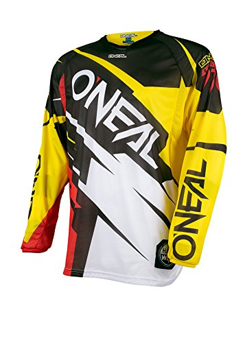 - O'Neal Unisex-Adult HARDWARE FLOW JAG JERSEY YEL/RED M (Yellow, Medium
