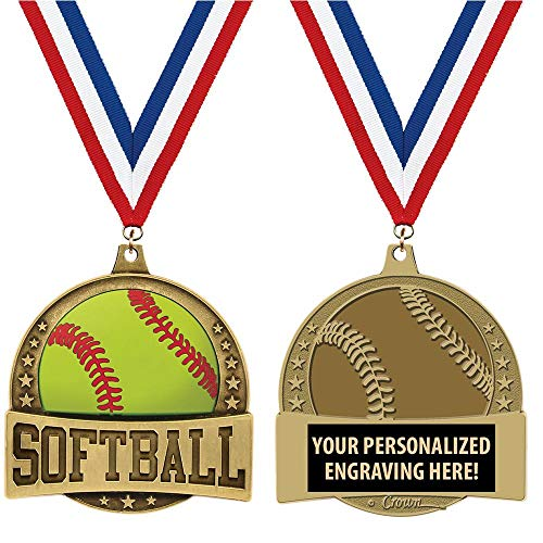 Softball Custom Medals, 1 1/4