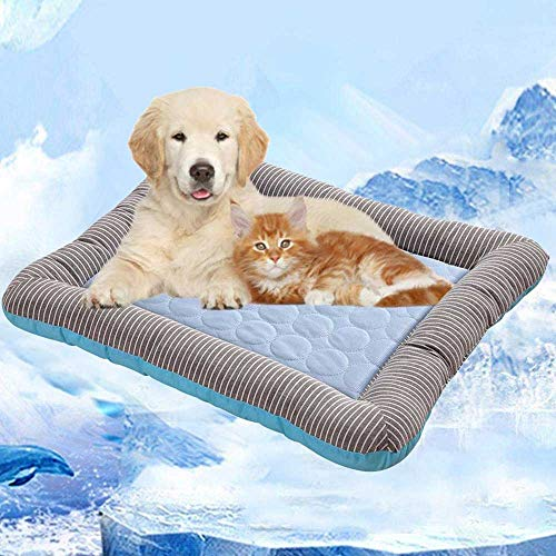 (Volwco Pet Cooling Gel Pad, Pet Cooling Pad, Pet Self Cooling Mat,Cooling Gel Pet Bed for Dogs Puppy Pet Cats Sleeping & Reduce Joint Pain, Ideal for Indoor Home & Travel)