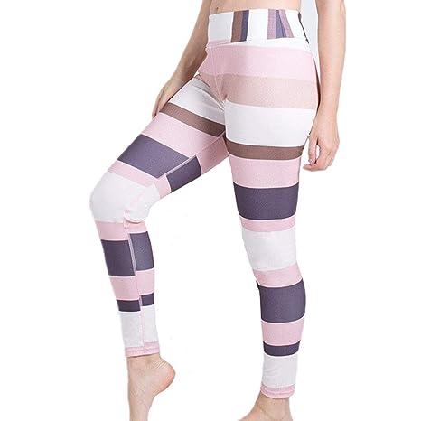 Gfdsase Pantalones de Yoga cómodos para Mujer Leggings con ...