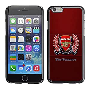 Apple (4.7 inches!!!) iPhone 6 Plus 5.5 , Radio-Star - Cáscara Funda Case Caso De Plástico (The Gunners - Football Soccer)
