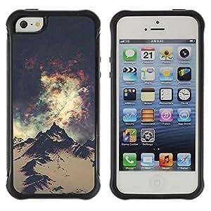 "Hypernova Defender Series TPU protection Cas Case Coque pour Apple iPhone SE / iPhone 5 / iPhone 5S [Sky Lights Vía Láctea Everest""]"