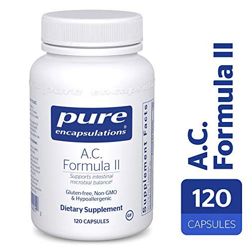 Pure Encapsulations - A.C. Formula II - Hypoallergenic Dietary Supplement to Promote Healthy Microbial Balance* - 120 Vegetable Capsules (Best Formula To Supplement With)