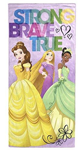Disney Princess Strong Brave True Cotton Towel - La Belle Bath