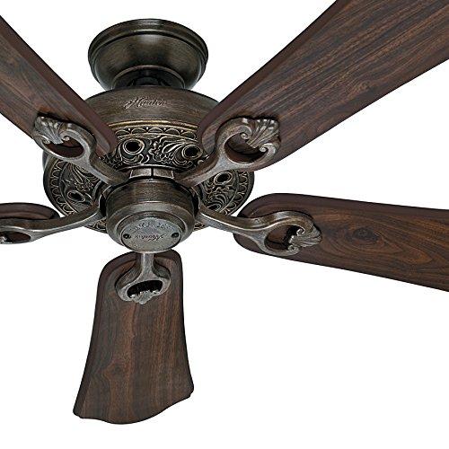 Hunter Fan 52 inch Roman Bronze Finish Ceiling Fan with 5 Walnut Finish Blades (Renewed)