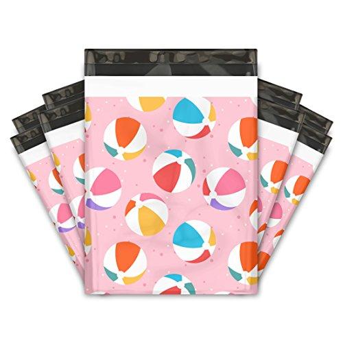 10x13 (100) Beach Balls Designer Poly Mailers Shipping Envelopes Premium Printed Bags