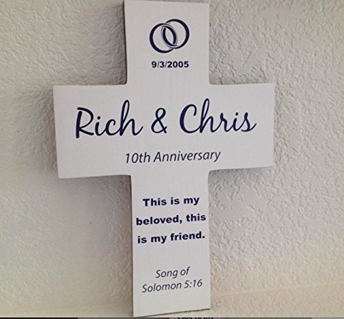 Personalized Anniversary Wedding Wall Cross Names & Date