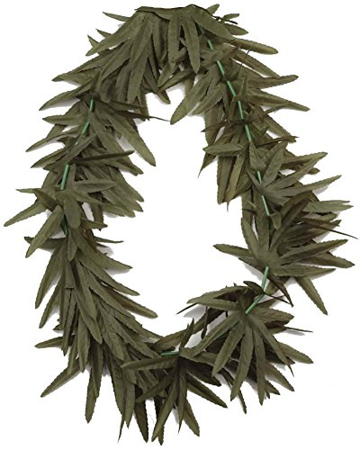 Forum Novelties Hippie Marijuana Pot Leaf Lei Costume Necklace -