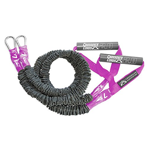 Crossover Symmetry Light 7 lbs Shoulder Resistance/Exercise Bands - Perfect for Crossfit, Warmups, Arm Care, Rotator Cuff Exercise or Physical Rehab from Injury - One Set of 2 Crossover Cords