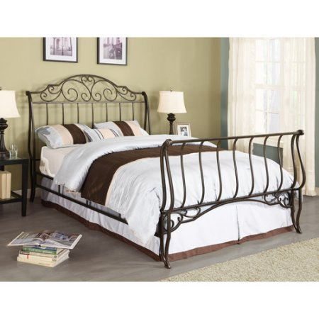 Amazon.com: Adison Sleigh Full Metal Bed, Brushed Gold: Kitchen & Dining