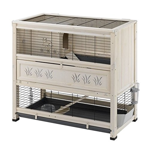 Multi-Functional Wooden Cottage With Rabbit And Grass Design An Elegant Indoor Wooden Hutch Suitable For Small Rabbit Breeds And Guineapigs