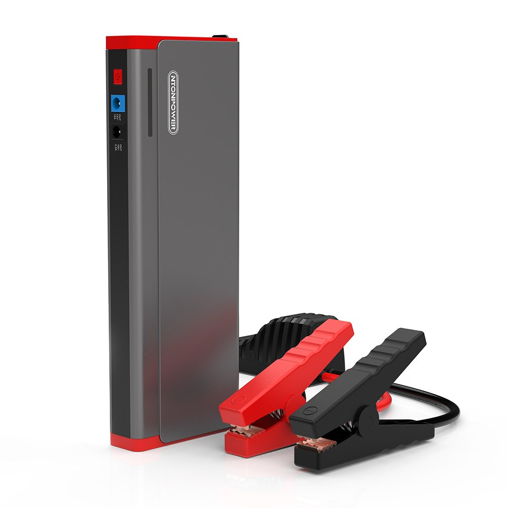 Car Jump Starter Power Bank 800A Peak 18000mAh Portable Auto Lithium-ion Battery Booster Pack Phone Charger for 12V 8.0L Gas or 6.0L Diesel Engine with 2 Smart USB for Mobile,Tablet, Laptop