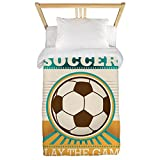 Twin Duvet Cover Soccer Football Futbol Play The Game