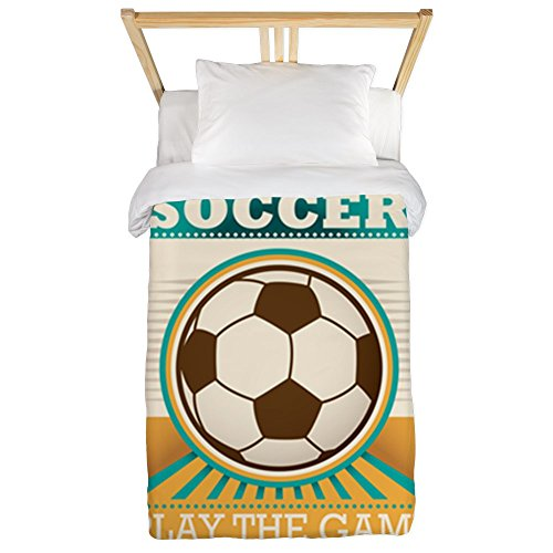 Twin Duvet Cover Soccer Football Futbol Play The Game by Royal Lion