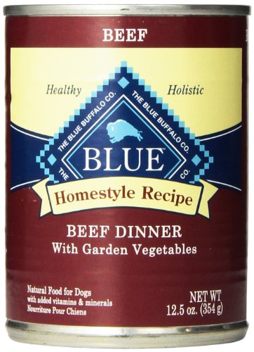 Blue Buffalo Canned Dog Food, Beef Dinner (Pack of 12 12.5-Ounce Cans)
