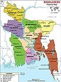 "Political Map of Bangladesh (36"" W x 48"" H)"