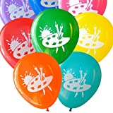 Nerdy Words Art Party Balloons (16 pcs) Assorted Colors