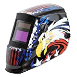 Antra AH6-260-6217   Solar Power Auto Darkening Welding Helmet with AntFi X60-2 Wide Shade Range 4/5-9/9-13 with Grinding Feature Extra lens covers Good for Arc Tig Mig Plasma