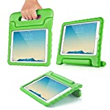 "TNP iPad Pro 9.7"" Case - Kids Shock Proof Soft Light Weight Childproof Impact Drop Resistant Protective Stand Cover Case with Handle for Apple iPad Pro 9.7"" (Green)"