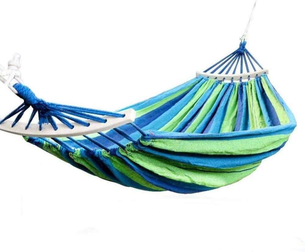 XHCP Hängematte, Schaukel, Stuhl Hängematte Schaukel Hängematte Baumwollstuhl Gartenstuhl mit Schaukelstuhl Zum Aufhängen für Gartenstuhl mit 2 Seilen (Blau)