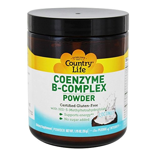 COUNTRY LIFE Coconut Coenzyme B Complex Powder, 1.95 OZ