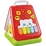 fun wee Musical Activitiy House With Lights And Sounds - Learning Toy For Your Baby´s Early Development And Education - Bilingual Activity Center To Develop Babies Sensory Skills, Battery Powered