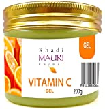 Khadi Mauri Herbal Vitamin C Gel - Anti Pimple & Pigmentation, Lightens Skin Complexion, Prevents Sun UV Rays Skin Damage, Soothes & Nourishes Skin - Enriched with Vitamin C & Aloe Vera - 200 g