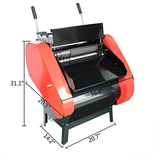 Rhegeneshop 220V Industrial 2200W ¦µ1-40mm 10-2000m Automatic Multi Wire Cable Stripper Copper Multicore Scrap Stripping Machine ()
