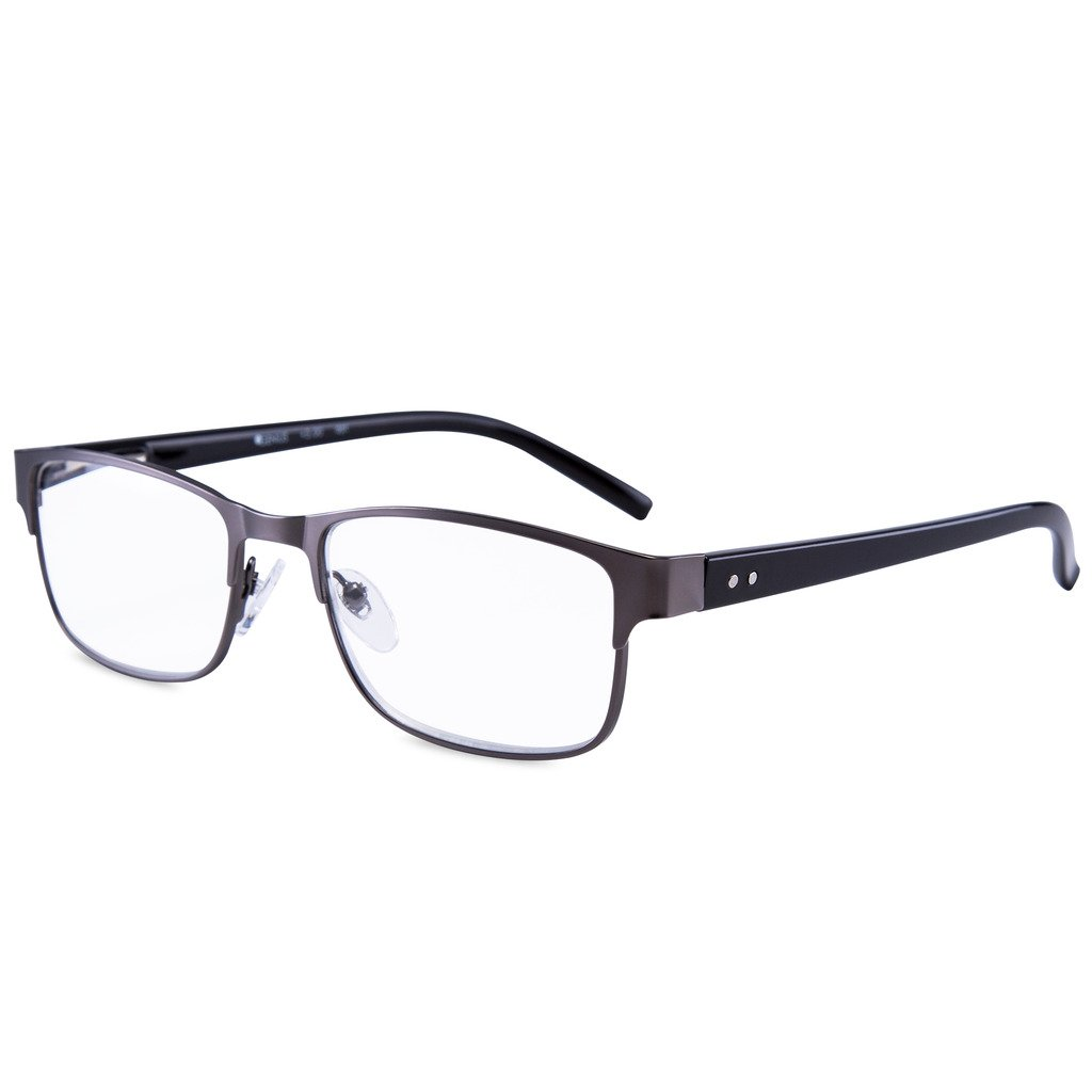EYEGUARD Readers Metal Deluxe High Quality Rectangular Reading Glasses for Men by EYEGUARD