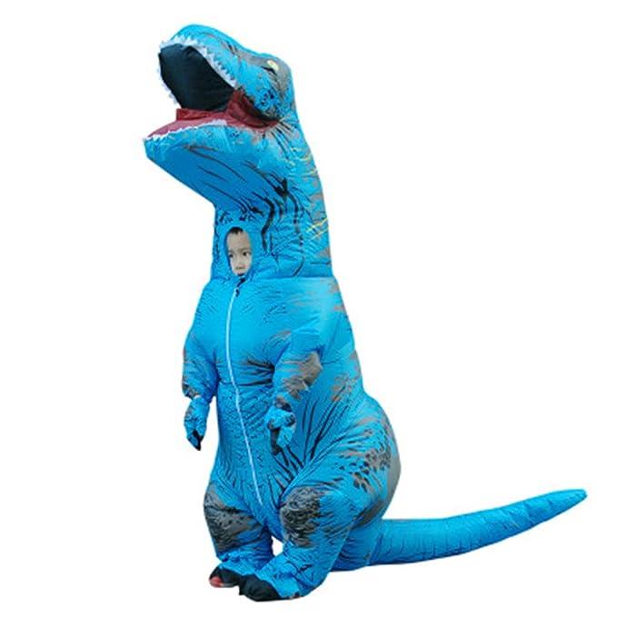 Amazon.com: Disfraz de dinosaurio inflable vegano para niños ...