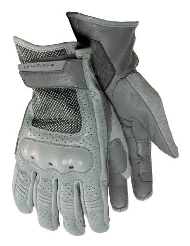 BMW Genuine Motorcycle Riding Airflow Glove 9 - 9.5 Grey / Gray by BMW