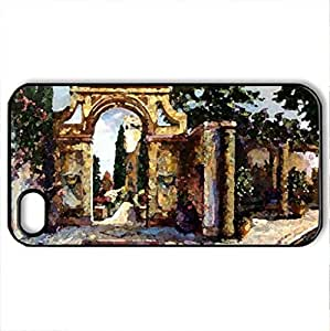 The Belltower - Case Cover for iPhone 4 and 4s (Watercolor style, Black) by icecream design