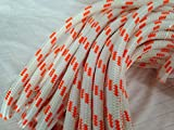 "5/8"" X 150' Double Braid Polyester Arborist Bull Rope, White/Orange"