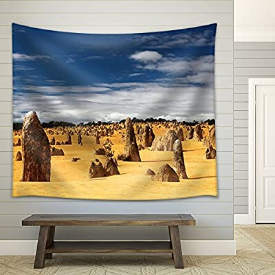 Landscape with Various Stones in The Desert Fabric Wall, Quality Creation, Delightful Object of Art