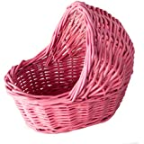 """Willow Empty Cradle Baby Shower Basket in Pink - 7""""L"""