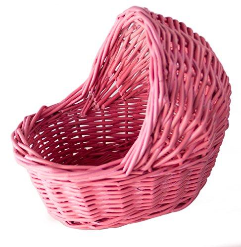 Willow Empty Cradle Baby Shower Basket in Pink - 7